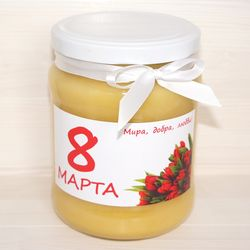 Подарочная баночка мёда к 8 марта №4