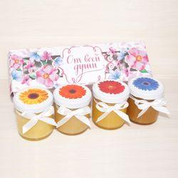 Подарочная коробочка с мёдом к 8 марта