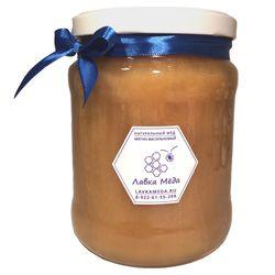 Большая банка донникового мёда с сафлором №3, 1500г (1000мл)