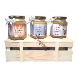 Деревянный ящик с мёдом №1, 825Г (600МЛ)