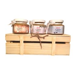 Деревянный ящик с мёдом №2, 405Г (300МЛ)