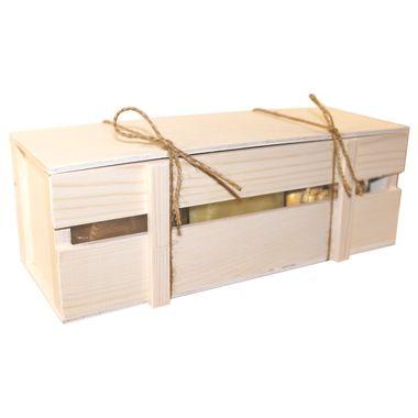 Большой ящик с мёдом и орехами к 23 февраля фото 5
