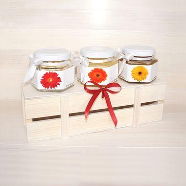 Деревянный ящик с мёдом к 8 марта