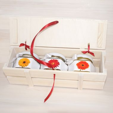 Деревянный ящик с мёдом к 8 марта фото 3