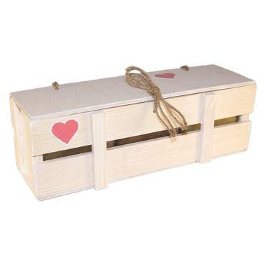 Деревянный ящик с мёдом к 14 февраля фото 3